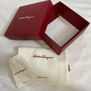 Salvatore Ferragamo Belt Box & Dust Bags